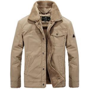 秋冬 メンズジャケット 大きいサイズ 裏起毛 メンズコート ミリタリージャケット メンズ ブルゾン  ジャンパー防風 カジュアル30代40代50代60代|sanwafashion