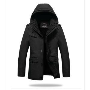 秋冬 メンズジャケット 大きいサイズ メンズコート フード付き 裏起毛  ミリタリージャケット メンズ ブルゾン  ジャンパー防風 カジュアル|sanwafashion