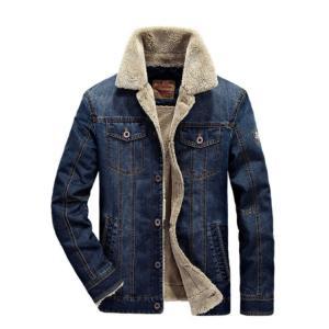 秋冬 メンズジャケット デニムジャケット Gジャン ブルゾン 裏起毛 メンズコート ミリタリーコート ジャンパ 無地 大きいサイズ カジュアル|sanwafashion
