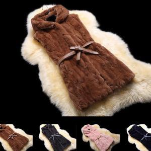 本物のファー 秋冬 レディース ファーコート 毛皮コート ファーベスト ラビットファー アウター ジャケット 可愛い 暖かい 披露宴 パーティー 大きいサイズ|sanwafashion