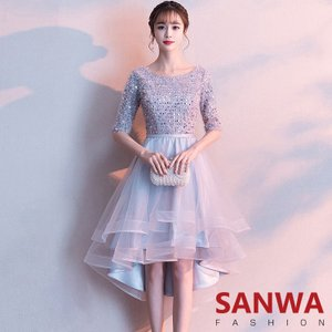 ウェディングドレス パーティードレス   ロングドレス 無地 ドレス 花嫁ドレス 二次会 ワンピース  結婚式 演奏会|sanwafashion