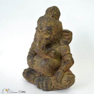 【商品材質】 石  【サイズ】 ガネーシャ本体:W14×D10×H20cm  【重さ】 約1.3kg...