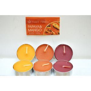 ティーライトキャンドル パパイヤ マンゴーの香り  9個入り6パック(計54個) キャンドル ロウソク |sanwapotitto
