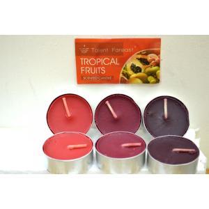 ティーライトキャンドル トロピカルフルーツの香り  9個入り6パック(計54個) キャンドル ロウソク |sanwapotitto