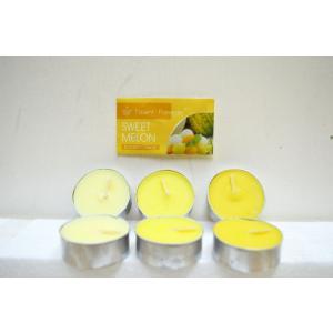 ティーライトキャンドル スイートメロンの香り メロン 9個入り6パック(計54個) キャンドル ロウソク |sanwapotitto
