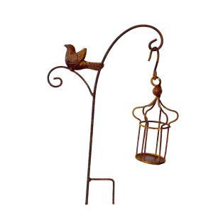 ミニガーデンバードケージ 4650 ガーデニング ピック オーナメント デコレーション スティック 鳥かご とり アンティーク ヴィンテージ sanwapotitto