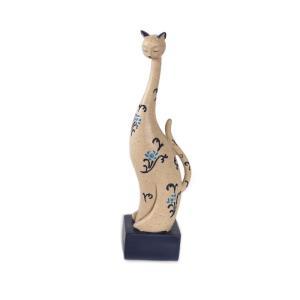 猫 おすわり猫 台付き ねこ ネコ オーナメント オブジェ インテリア プレゼント ギフト  景品 オシャレ かわいい  sanwapotitto