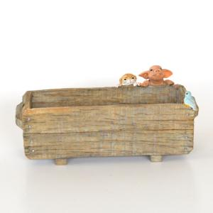 プランターをのぞく豚さん ぶた ブタ ミニチュア 動物 かわいい 置き物 ギフト 飾り オブジェ|sanwapotitto