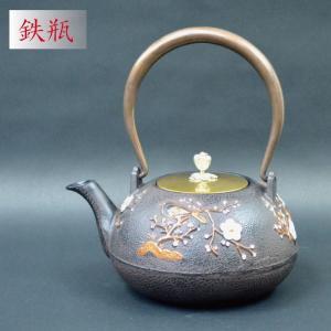 鉄瓶 梅の木 急須 やかん 鉄釜 湯沸かし 鉄急須 鉄器 送料無料 sanwapotitto