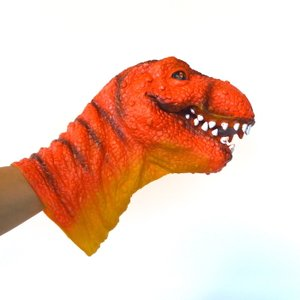 パペット 恐竜 ティラノサウルス 手袋 グローブ ゴム パーティグッズ クリスマスプレゼント ハロウィン 仮装 送料無料|sanwapotitto