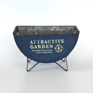 セミサークルプランターガーデニング 園芸 プランター ポット 植木鉢 鉢植え ナチュラル おしゃれ シャビー カントリー sanwapotitto