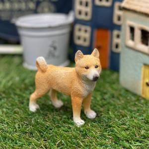 豆柴 柴犬 犬 茶柴 ミニチュアアニマル 置物 オブジェ かわいい ギフト 手のひらサイズ ED13041A|sanwapotitto