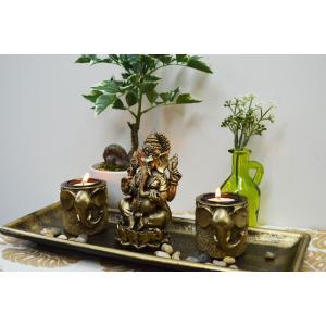 インドの神様 ガネーシャの置物 ガネーシャ 置物 ガネーシャ像 夢を叶える象 金運アップ 開運 商売...