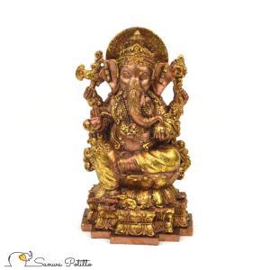 インドの神様 ガネーシャの置物 ガネーシャ 置物 ガネーシャ像 夢を叶える象 金運アップ 開運 商売繁盛 現世利益 I18072 高さ15.5cm