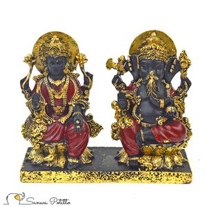 インドの神様 ガネーシャの置物 ガネーシャ 置物 ガネーシャ像 仏様 夢を叶える象 金運アップ 開運 商売繁盛 現世利益 I18073 高さ14cm|sanwapotitto