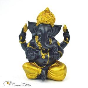 インドの神様 ガネーシャの置物 ガネーシャ 置物 ガネーシャ像 夢を叶える象 金運アップ 開運 商売繁盛 現世利益 L18088 高さ17.5cm|sanwapotitto