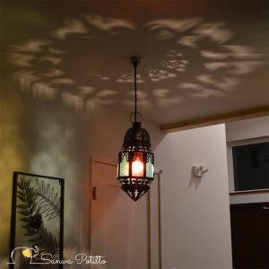 ペンダントライト ステンドグラスライト 天井照明 豪華 ムードライト 寝室照明 間接照明 照明 リビング 玄関 O18126 高さ37.5cm sanwapotitto