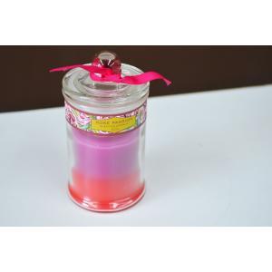 アロマキャンドル ローズの香り バラ ガラス容器入り ろうそく フレグランスキャンドル クリスマスキャンドル キャンドル かわいい おしゃれ|sanwapotitto