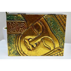 アジアン雑貨 バリ 仏様 ゴールド 金 BOX おしゃれ インテリア エスニック 小物入れ 木箱 収納箱|sanwapotitto