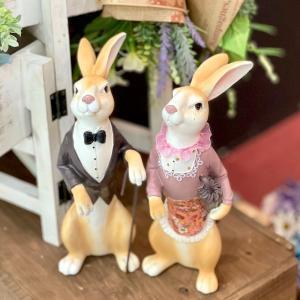 うさぎ ウサギ 兎  ガーデニング 置物 インテリア おしゃれ ギフト お買得 送料無料|sanwapotitto