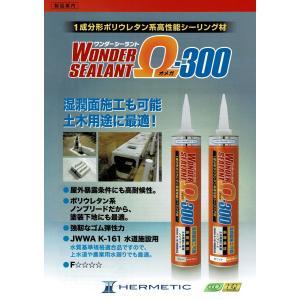 ヘルメチック 高性能・高耐候性ポリウレタン系シーリング材 ワンダーシーラント Ω(オメガ)-300 グレー/ホワイト|sanwayamashita|02