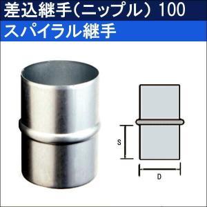 スパイラル継手 差込継手(ニップル)100|sanwayamashita