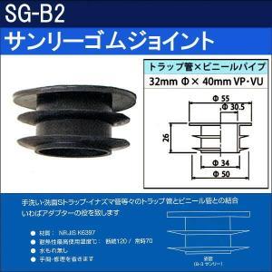 ★対象エリア限定送料無料★サンリーゴムジョイント SG-B2 (50個セット)|sanwayamashita