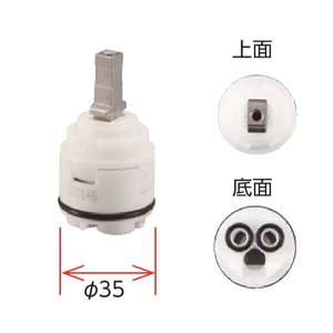 KVK シングルレバーコンパクトカートリッジ KPS027H-C|sanwayamashita