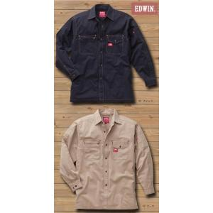 EDWIN・エドウイン35-85000オールシーズン長袖シャツ【綿ストレッチ】|sanyo-apparel