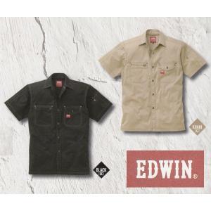 EDWIN・エドウイン35-85001半袖シャツ【綿ストレッチ】|sanyo-apparel