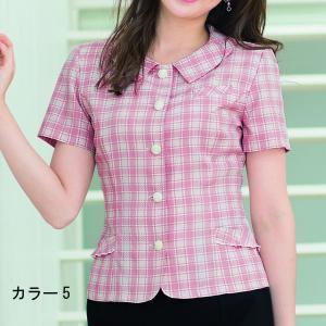事務服 オーバーブラウス アンジョア 26145 オーバーブラウス 5号〜15号|sanyo-apparel