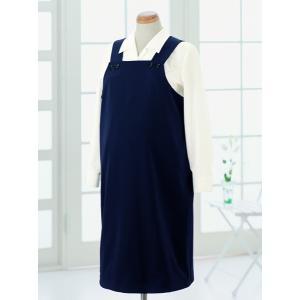 事務服 マタニティー アンジョア 61070 マタニティドレス フリーサイズ ネイビー|sanyo-apparel