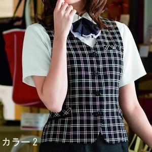事務服 ベスト 大きいサイズ アンジョア 16080 ベスト 17号〜19号 sanyo-apparel