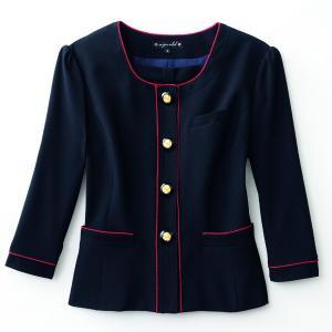 事務服 ジャケット 大きいサイズ アンジョア 86460 ジャケット 17号から19号SALEセール