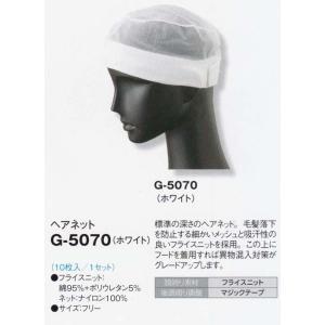 G-5070 マジックテープ付き・ヘアネット【10枚入】 sanyo-apparel