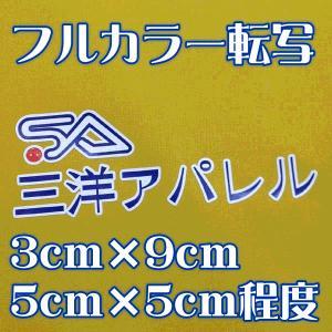 お手軽フルカラー転写 3cm×9cmまたは5cm×5cm程度SALEセール sanyo-apparel