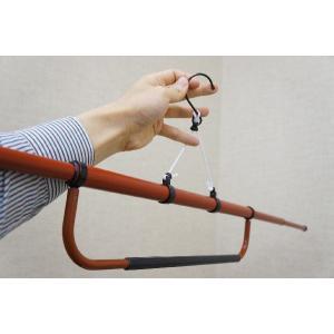 きもの着用後のお手入れに、伸縮式きものハンガー(帯掛け付) ハンガー両端は、引き伸ばしやすい形状 二...