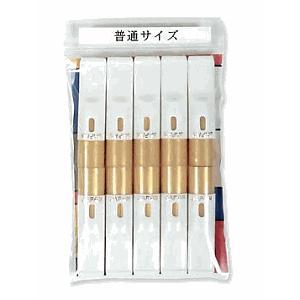 愛煙パイプ(普通サイズ)白10本(先端:金色)|sanyo-stre