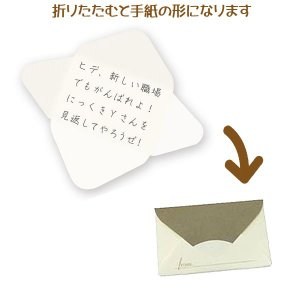 メール便可・手紙カード 10枚入り ダークブラウン(メッセージカード 寄せ書き)ひみつのレターボックス シリーズ sanyodo-shop 02