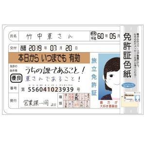 メール便可・免許証色紙 ゴールド|sanyodo-shop