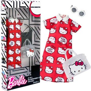 メール便可・バービー ハローキティ レッドドレス BARBIE HELLO KITTY RED DRESS FASHION|sanyodo-shop