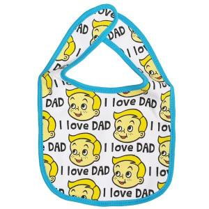 メール便可・BABY BIB I LOVE DAD(ベビースタイ・よだれかけ)|sanyodo-shop|02