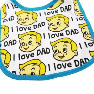 メール便可・BABY BIB I LOVE DAD(ベビースタイ・よだれかけ)|sanyodo-shop|03