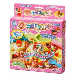 ねんどであそぼう ケーキ屋さんセット(こむぎねんど 知育玩具)|sanyodo-shop