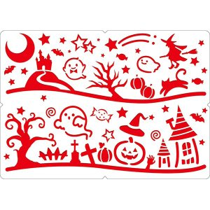 スノースプレー用型紙(A2) ハロウィンパーティー halloween|sanyodo-shop