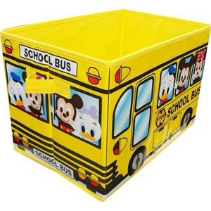 ミッキーのバス柄収納BOX イエローver.(収納ボックス・おもちゃ箱)|sanyodo-shop