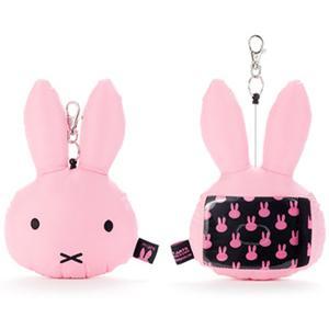 ブルーナシンプルカラーズキルトリール付きパスケース(ピンク)(ブルーナー ・ミッフィー)|sanyodo-shop