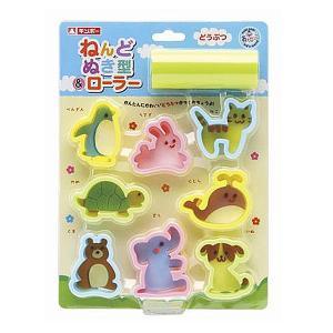 どうぶつねんどぬき型&ローラー(型ぬきセット)知育玩具|sanyodo-shop