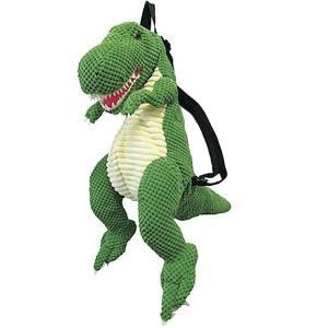 ぬいぐるみ バックパック T-REX モコモコ GREEN PLUSH BACK PACK(恐竜 リュックサック)|sanyodo-shop