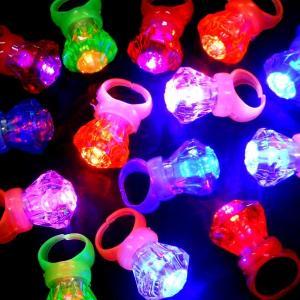 光るクリスタルリング36個セット(光るおもちゃ)|sanyodo-shop